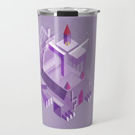 Den of the Headless Lion in Purple and Lavender Travel Mug