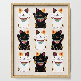 Maneki Neko - Lucky Cats Serving Tray
