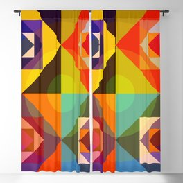 Abstract Multicolor Graphic Design Art - Cambion Blackout Curtain