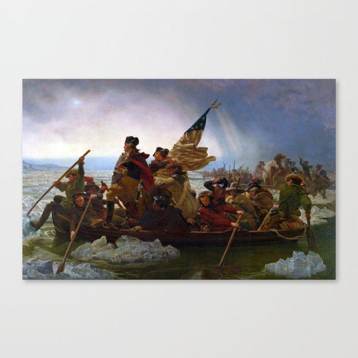 Washington Crossing the Delaware by Emanuel Leutze (1851) Leinwanddruck