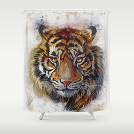 Tigers Eyes Shower Curtain