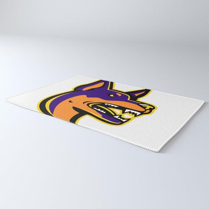 Australian Kelpie Dog Mascot Rug