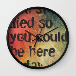 The Stars Died So You Could Be Here Today Wall Clock