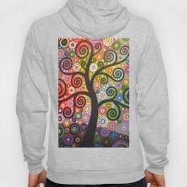Abstract Art Landscape Original Painting ... Tree of Wishes Hoody