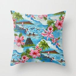 Hawaiian Scenes Throw Pillow