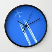 airplane Wall Clocks featuring Airplane by Uldis Ķēniņš
