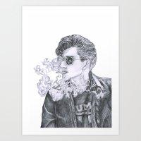 alex turner Art Prints featuring Alex Turner by Anja-Catharina