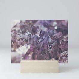 Amethyst geode Mini Art Print