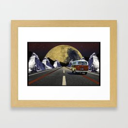 Driving Into Space Framed Art Print