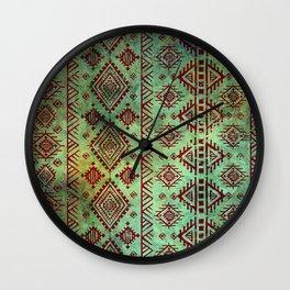 Aztec Heiroglyph Wall Clock