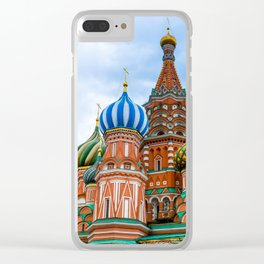 Saint Basil's Cathedral (Red Square in Moscow) Clear iPhone Case