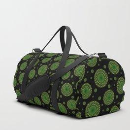 Detailed green mandala pattern Duffle Bag