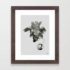 The Black-Tailed Werewolf Hunter Framed Art Print