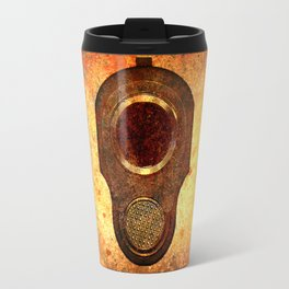 M1911 Muzzle On Rusted Background Travel Mug