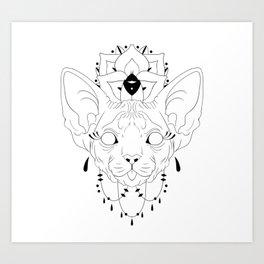 Mandala Sphynx Art Print