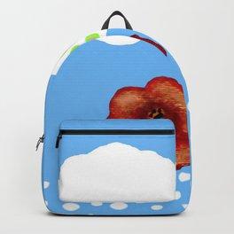 Coquelicot et deux nuages bis Backpack
