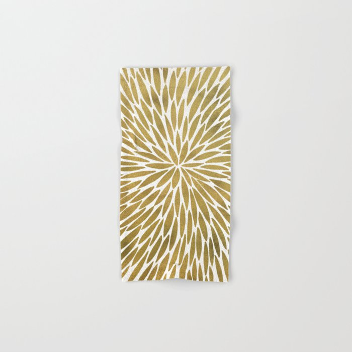 Golden Burst Hand & Bath Towel