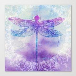 Mandala Dragonfly Canvas Print