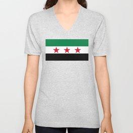 Syrian Independence Flag  High quality Unisex V-Neck
