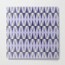 Mid Century Modern Diamond Pattern Lavender 232 Metal Print