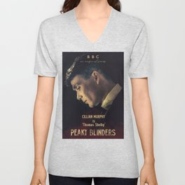 Peaky Blinders, Cillian Murphy, Thomas Shelby, BBC Tv series, gangster family Unisex V-Neck