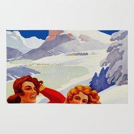 Vintage Vallee de Joux Switzerland Travel Rug