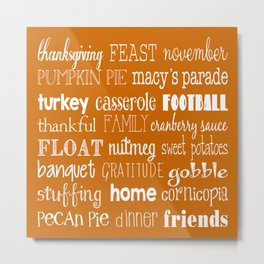 Thanksgiving Celebration Metal Print