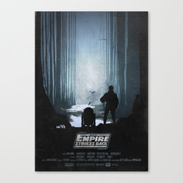 The Empire Strikes Back (1980) Movie Poster Canvas Print