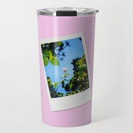 Retro Photo: Rose Reaching Travel Mug