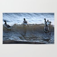 ducks Area & Throw Rugs featuring Ducks by Alex Dodds