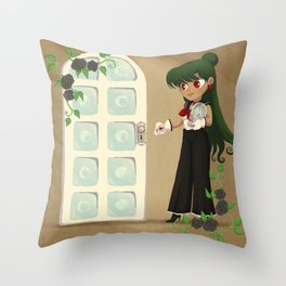 Retro Sailor Pluto Throw Pillow