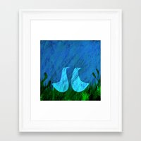 lovers Framed Art Prints featuring Lovers by Inmyfantasia