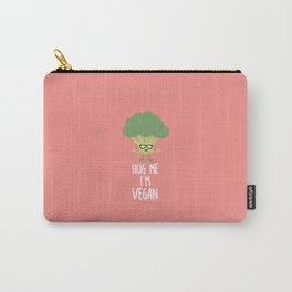 Vegan Broccoli Nerd T-Shirt for all Ages D545s Carry-All Pouch