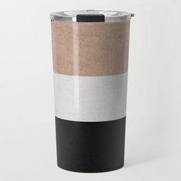 classic - natural, cream and black Travel Mug