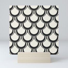 Midcentury Scales in Black and White Mini Art Print