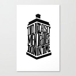 Doctor Who - Typograhpy Canvas Print