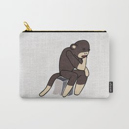 Sock Monkey Thinking Carry-All Pouch