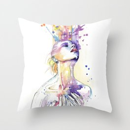 art never comes from happiness Throw Pillow