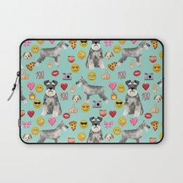 schnauzer emoji dog breed pattern Laptop Sleeve