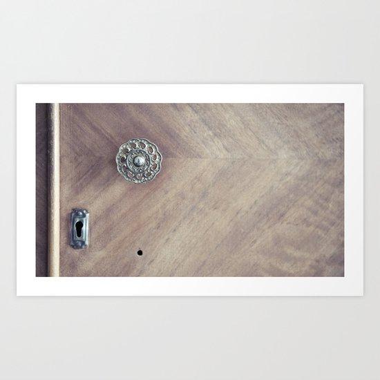 under lock and key... Art Print