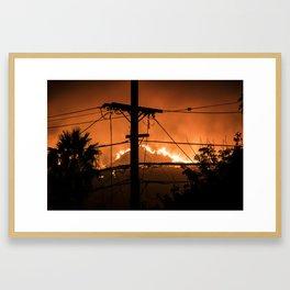 Hot Line Framed Art Print