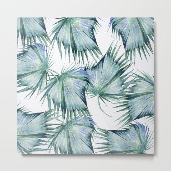 Floating Palm Leaves 2 Metal Print