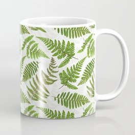 Dried And Pressed Fern Leaves Midsummer Forest Meadow  Coffee Mug