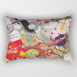 collage Vintage Rectangular Pillow