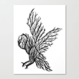 Owl Branches Canvas Print