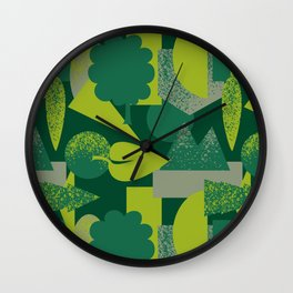 Green Landscape Wall Clock