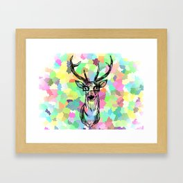 Deer are people too Framed Art Print