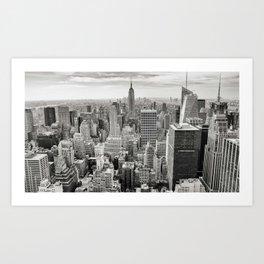 Manhattan and Empire State, NY Art Print