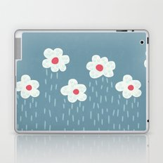 Rainy Flowery Clouds Laptop & iPad Skin