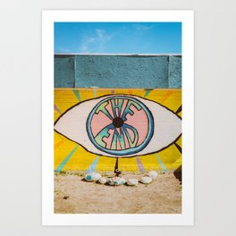 The End in Yucca Valley Art Print